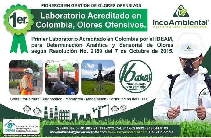 Incoambiental: Primer laboratorio acreditado en Colombia por el IDEAM, para determinación analítica y sensorial de olores